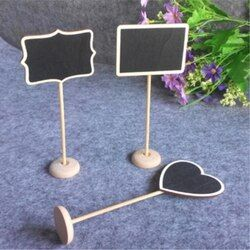 12 unids/set mini pequeño Tizas Pizarras boda cocina restaurante signos Tizas escritura mensaje de aviso pintura de madera Junta