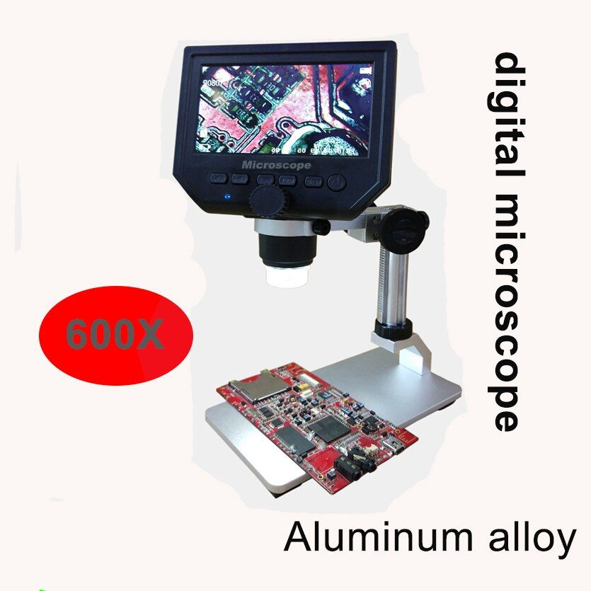 600X digital microscope Mobile phone maintenance microscope electronic microscope Video Microscope Magnifier with Al-alloy stent