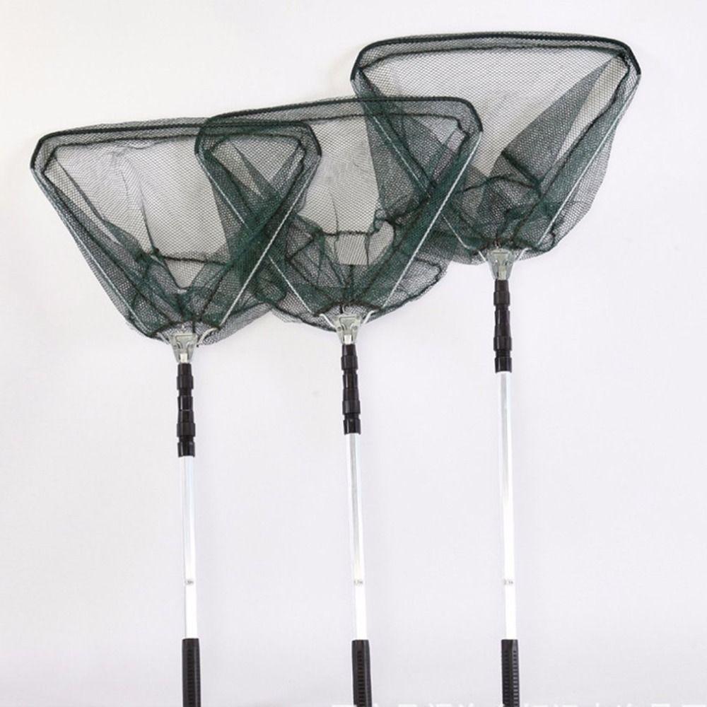 2019 Portable Aluminum Alloy Triangle Folding Fishing Net Fly Hand Dip Casting Net Fishing Tackle Fishing Tank rakolovka
