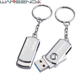 Stainless Steel USB 3.0 pen drive 4gb 8gb 16gb usb flash drive 32gb 64gb pendrive usb stick flash drive with keychain thumbdrive