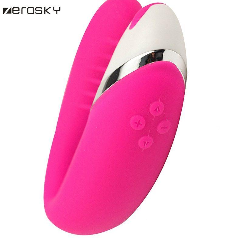 Zerosky Adult Couple Vibrator Sex Toys Waterproof G Spot Vibe Clit Toys Massager USB Rechargeable Sex Toys for Men Women