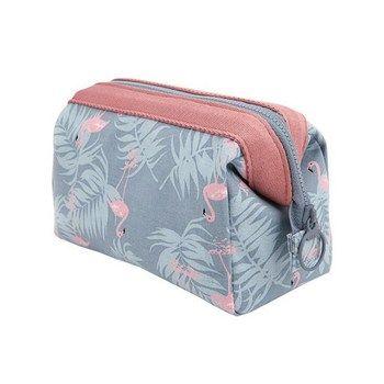 Nuevo llega Flamingo bolso cosmético mujeres necessaire maquillaje bolsa de viaje impermeable portable cosmética bolsa Kits de aseo