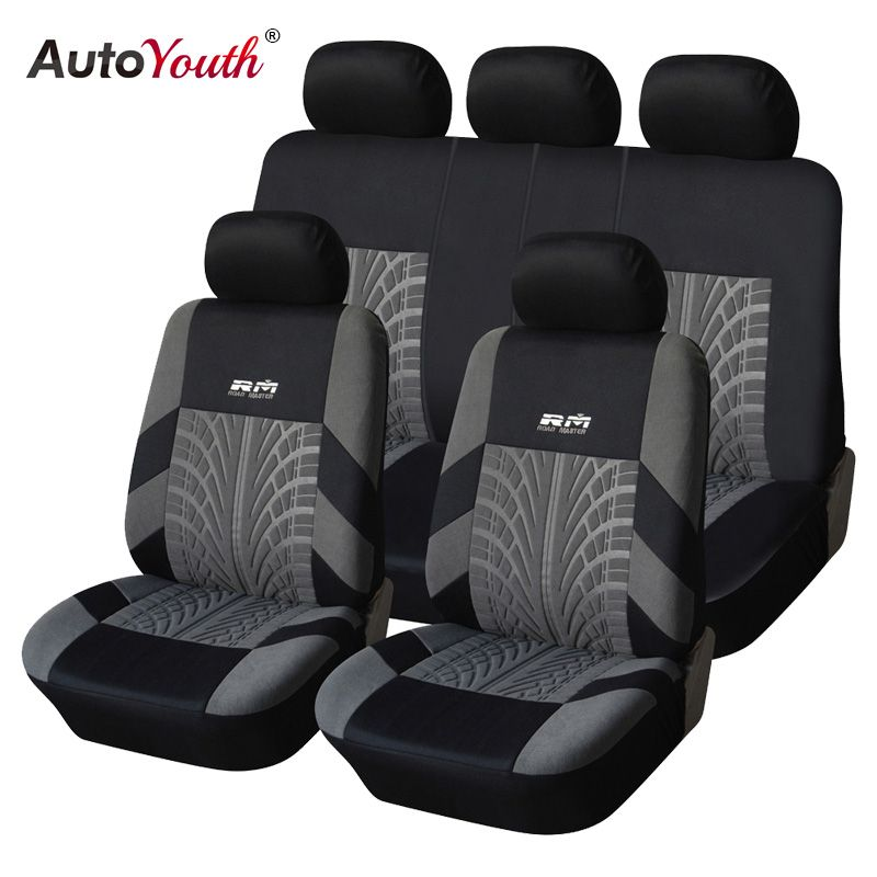 AUTOYOUTH Hot <font><b>Sale</b></font> 9PCS and 4PCS Universal Car Seat Cover Fit Most Cars with Tire Track Detail Car Styling Car Seat Protector