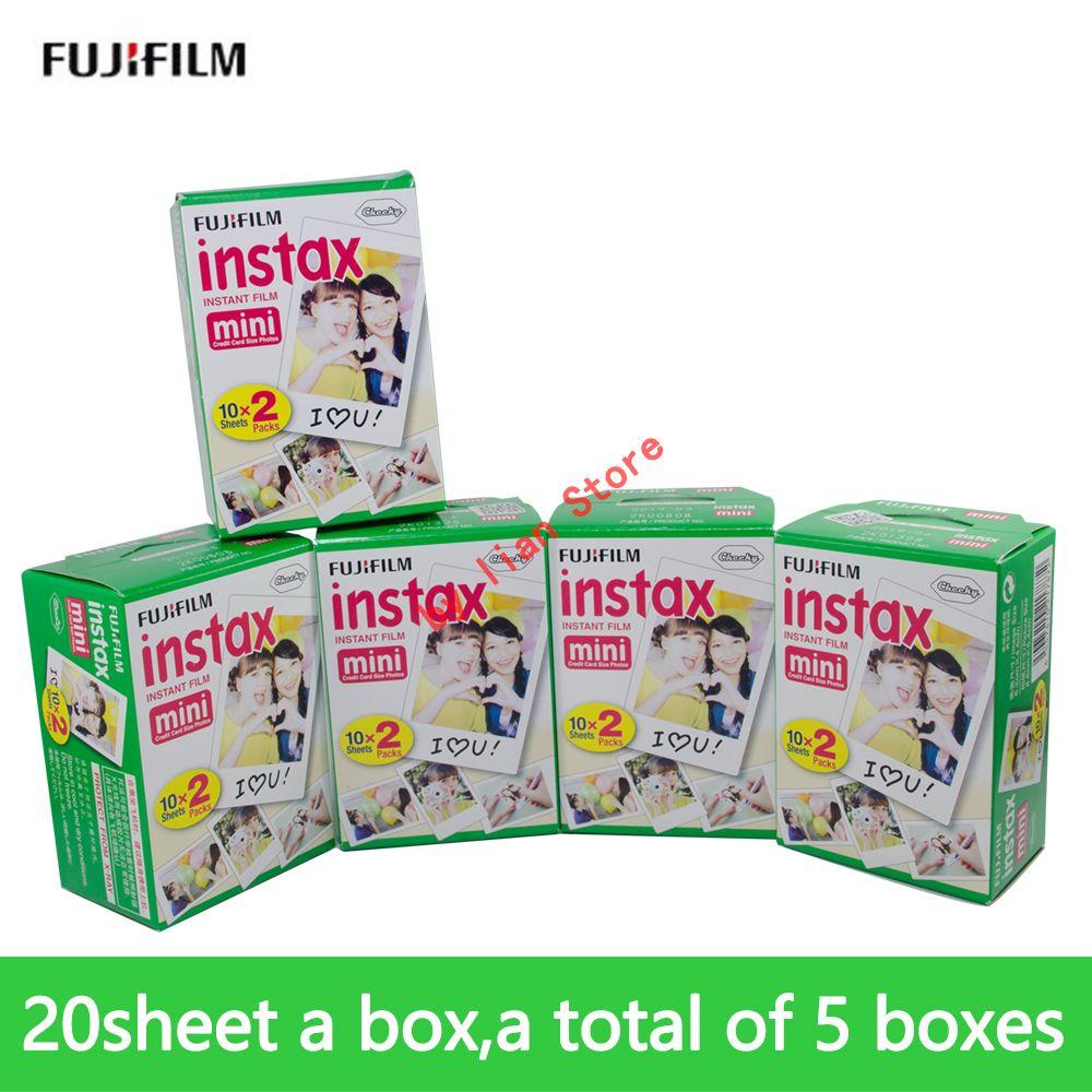 fujifilm instax mini8 FILM 100 sheet Fuji instsnt photo Photo Stickers for mini9 7s 25 50s 90 Instant Camera Paper