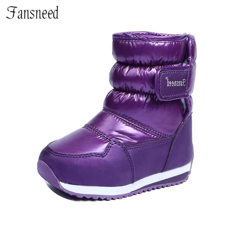 Children Snow Boots Girls Boys And Girls Fashion Winter Flush Shoes Princess Cute Autumn Boots Anti-<font><b>skid</b></font> And Waterproof Boots