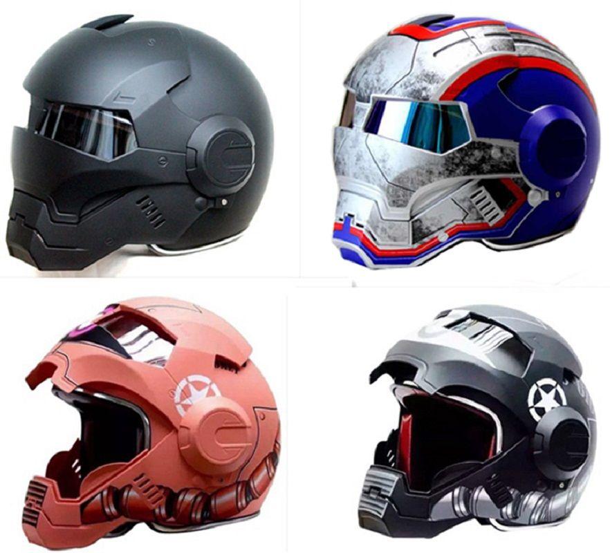 Masei Krieg Maschine Grau Mens frauen IRONMAN Iron Man helm motorrad helm halb helm open face helm ABS casque motocross