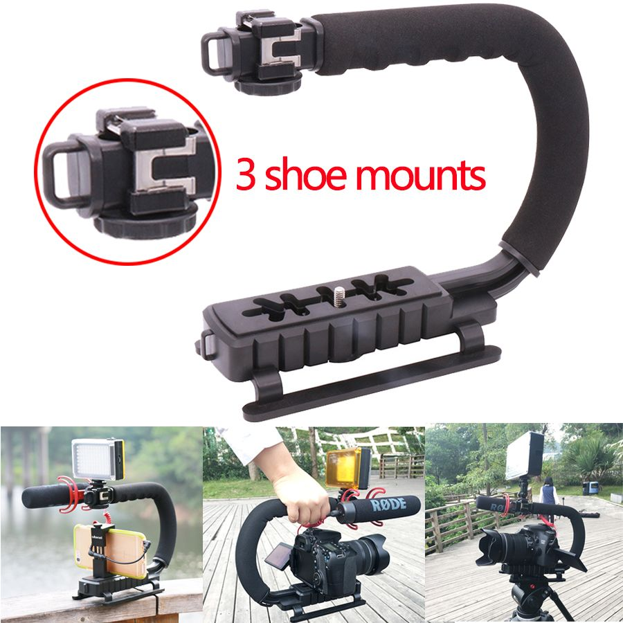 Ulanzi camera Handle U Grip Video Gear Phone Steadicam Stabilizer Rig for Youtube Vlogging streaming Recording for Nikon Canon