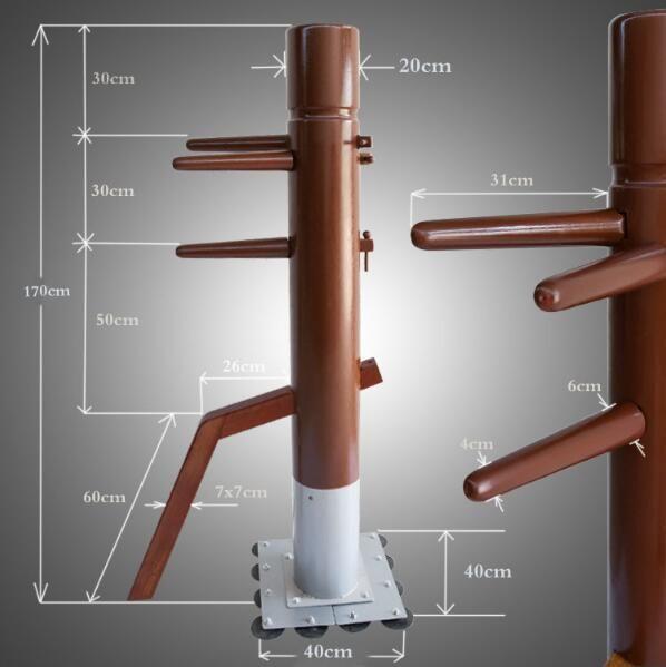 Fabrik Preis! Patent stehen spalte Wing Chun Holzpuppe, ein schlag mann kung fu ausbildung mook jong, Ip Mann Chinesischen kampfkunst