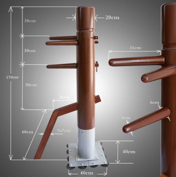 Factory Price! Patent stand column Wing Chun Wooden Dummy,one punch man kung fu training mook jong,Ip Man Chinese martial arts