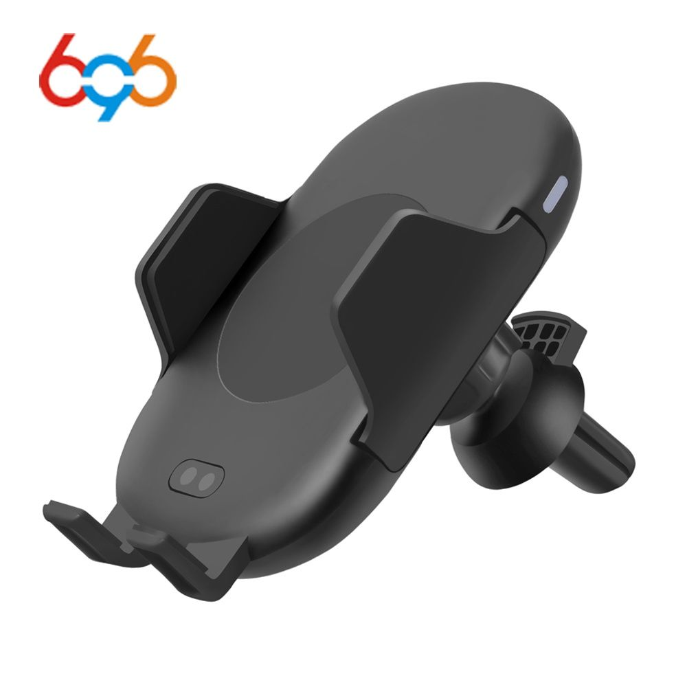 696 C10 QI Fast Wireless Car Charger 10W Automatic Infrared Induction Air Vent Car Phone Holder for iPhone Samsung Fast charging