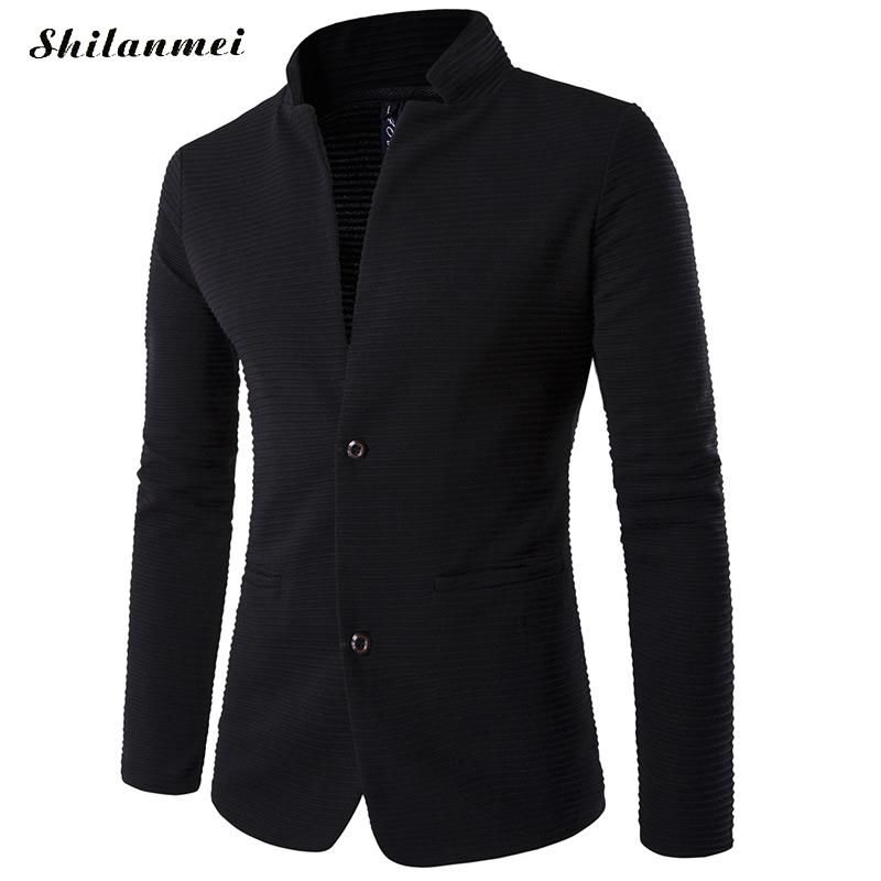 Blazer Men 5xl Plus Size Mens Blazer Jacket Chinese Collar Patchwoek Trendy Mens Black Suits Homens Blazers Masculino Slim Fit