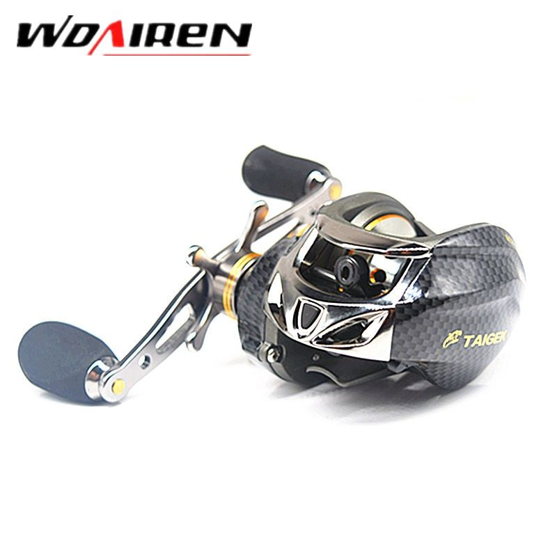 18 Ball Bearings Water Drop Wheel  Double Brake Daiwa Taige  Carretilha  Bait casting Reel  Fishing Gear Right/left Hand