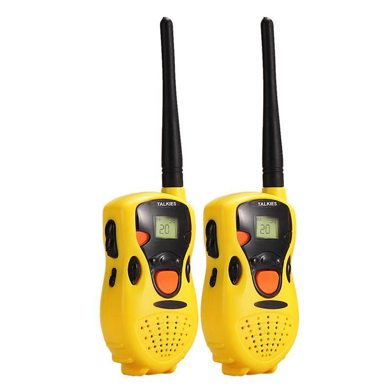 2 Unids Juguete Walkie Talkies Interfono Interfono para Niños Juguete Juego Pretent Simulado Educativos Juguete Jugar a las Casitas
