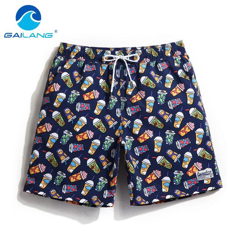 Gailang Brand Sexy Men's Board Shorts Beach Boxer Trunks Men Plus Size Quick Drying Shorts Gay Man Swimwear Swimsuits