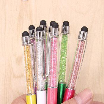 10 pcs Mignon Kawaii Métal diamant Cristal Stylo à bille Tactile stylo À Bille pour Ipad Iphone Fournitures de Bureau École Cadeau Livraison gratuite