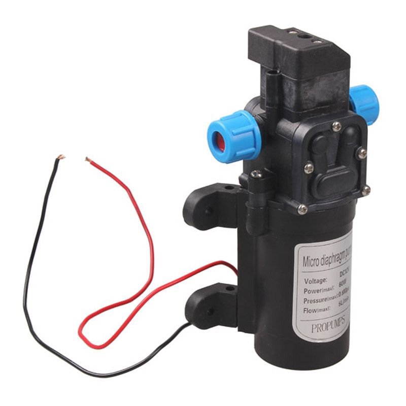 <font><b>DC12V</b></font> 60W Micro Electric Diaphragm Water Pump Automatic Switch 5L/min High Pressure Car Washing Spray Water Pump