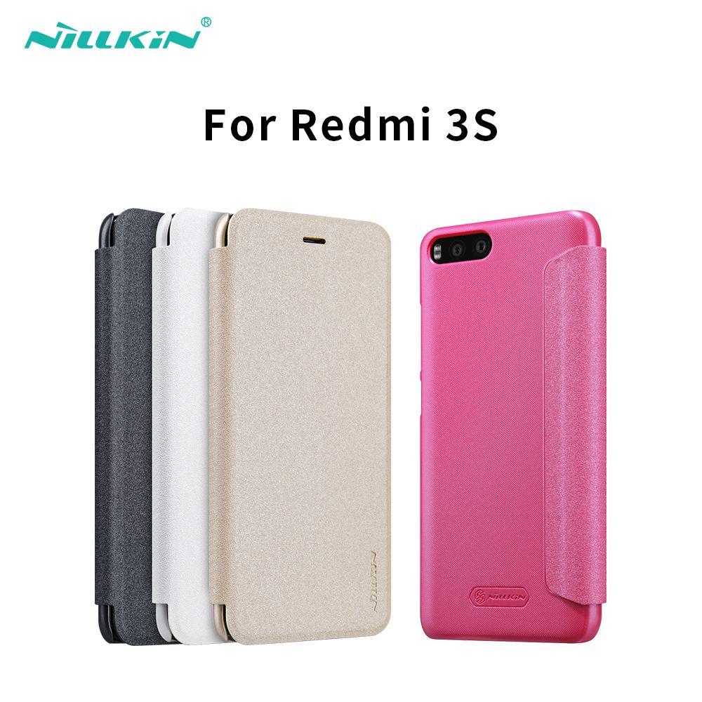 for xiaomi redmi 3 s 3s cover hard back cover NILLKIN PU leather case flip cover for xaomi redmi 3 xiaomi redmi 3 pro prime