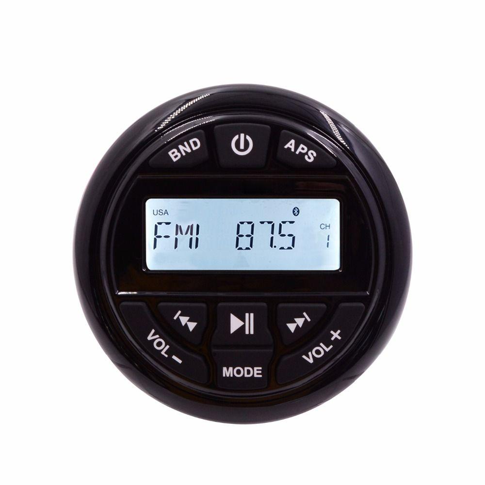 HASDA Waterproof Outdoor Marine Radio Audio FM AM Receiver MP3 Bluetooth Marine Player for Boat Yacht ATV UTV RV Tractor