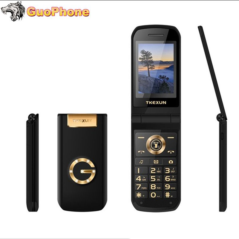 TKEXUN G3 G9000 femmes téléphone à rabat avec caméra double carte Sim 2.4 pouces écran tactile téléphone portable de luxe