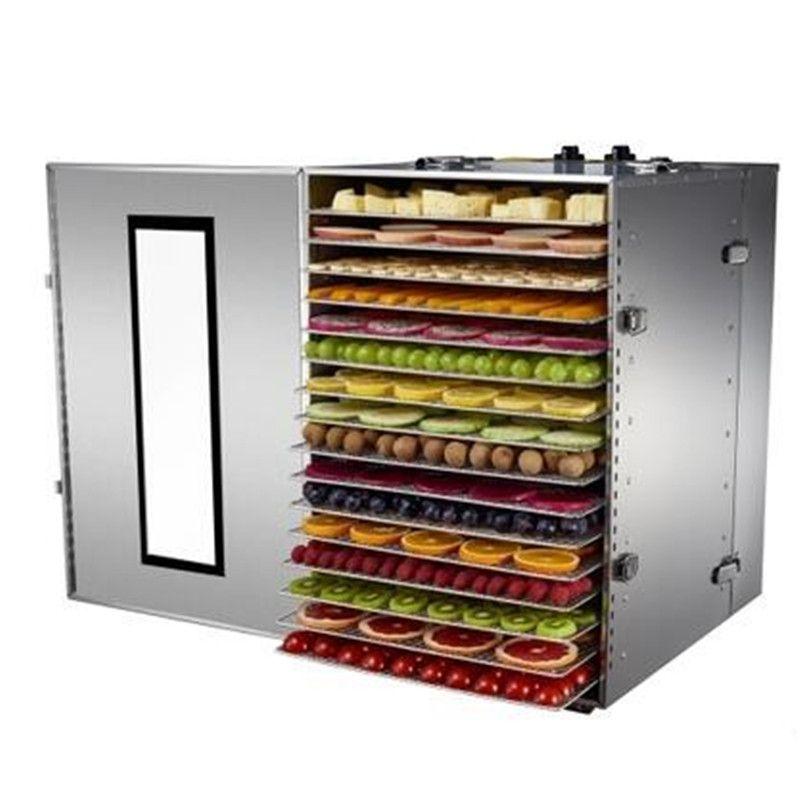 16 Fach Obstdörr Maschine Obst Gemüse Fleisch Kräutertee Fisch Trockner Lebensmittel Trockner