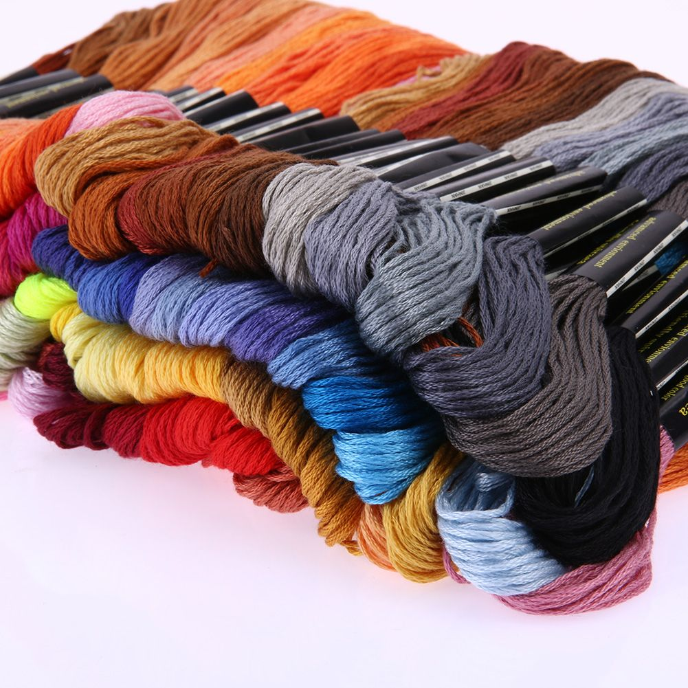 100 Colors Thread HighTenacity Abrasion-Resistant Embroidery Hand Knit Thread Hand Cross Stitch Floss Sewing Skeins Craft Tools