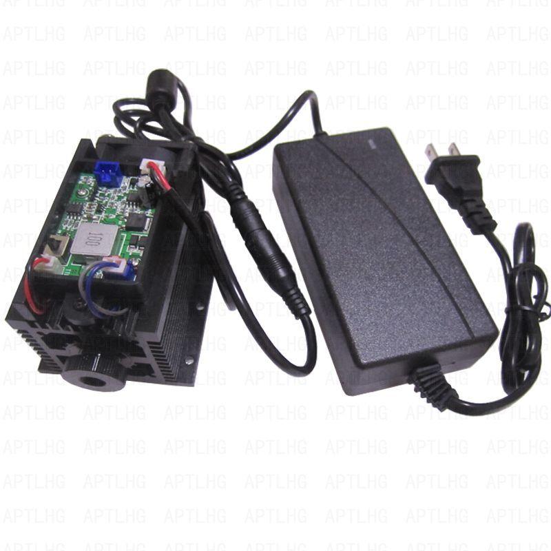 15 watt 15000 mw Laser kopf Leistungsstarke High Power TTL/PWM Analog Einstellbarer Fokus Blau Laser Modul DIY Laser stecher maschine Schneiden