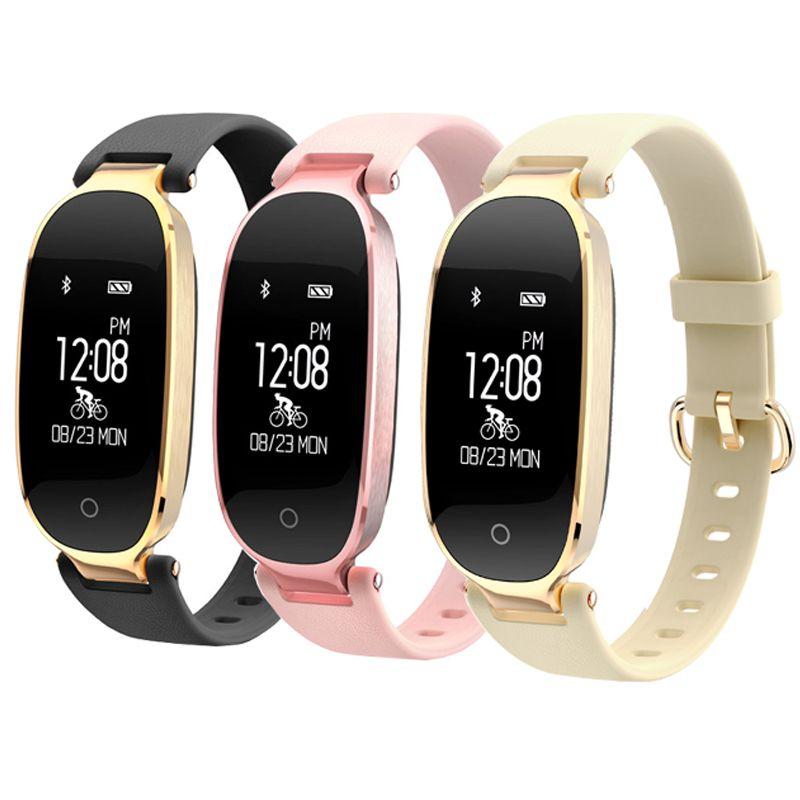 S3 Fashion Smart Band Girl Women IP67 Smart Bracelet Heart Rate Monitor Wrist Smartband Lady Female Fitness Tracker Wristband
