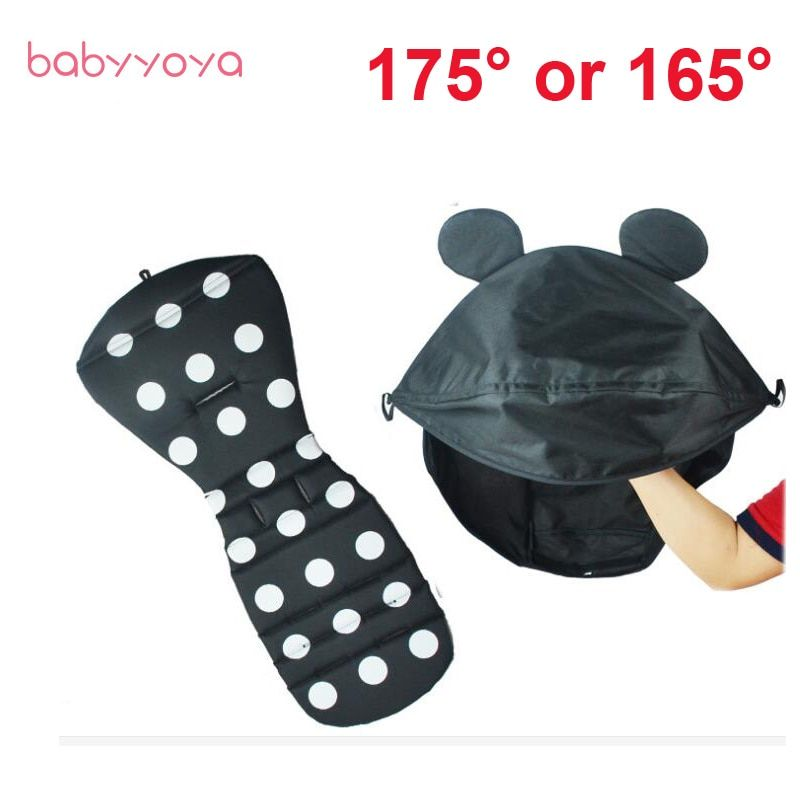 Baby Stroller Accessories Sun Canopy Car Linen hood and Seat Pad for Babyyoya Yoya Babyzen yoyo Stroller Cap Cushion visor Cover