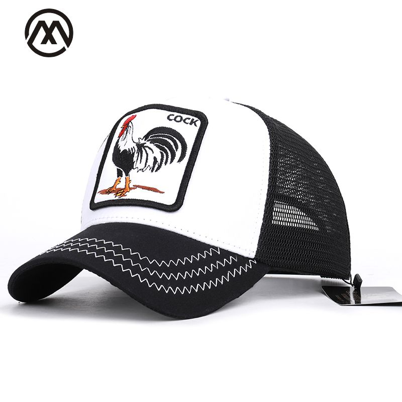 Baseball Caps Animal Embroidery Duck Anime Cute Rabbit Embroidery Summer Mesh Men's Ms. Outdoor Sunshade Dad Truck Driver hats