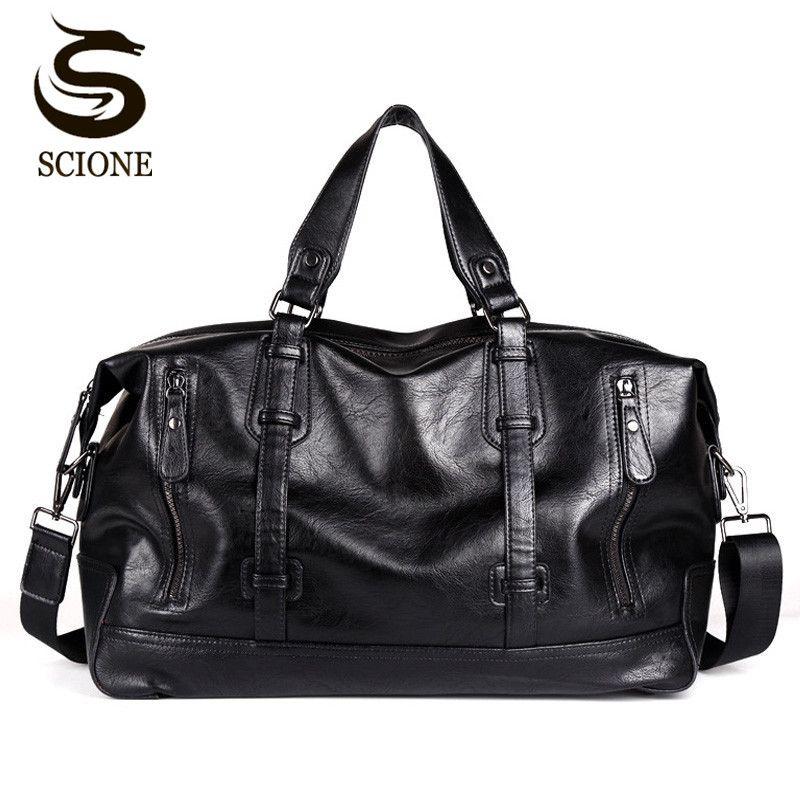 Fashion Men's Travel Bags Luggage Waterproof Suitcase Duffel Bag Big Large Capacity Bags Casual High-Capacity PU Leather Handbag