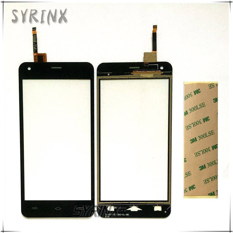 Syrinx With 3M Stickers Touchsceen For DEXP Ixion E350 Soul 3 Moible Phone Touch Screen Digitizer Panel Front Glass Sensor