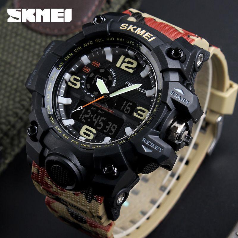 Mens Montres Haut Marque De Luxe De Mode LED Numérique Quartz Montres Sport montre-Bracelet Montre Homme Homme Horloge relogio masculino