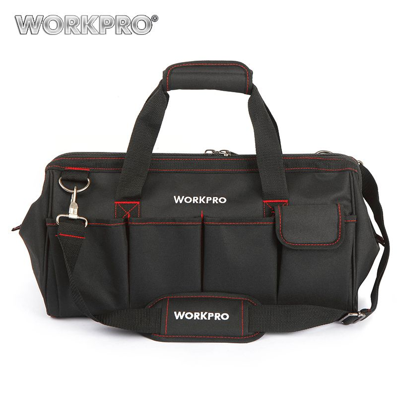 WORKPRO Waterproof <font><b>Travel</b></font> Bags Men Crossbody Bag Tool Bags Large Capacity Bag for Tools Hardware Free Shipping