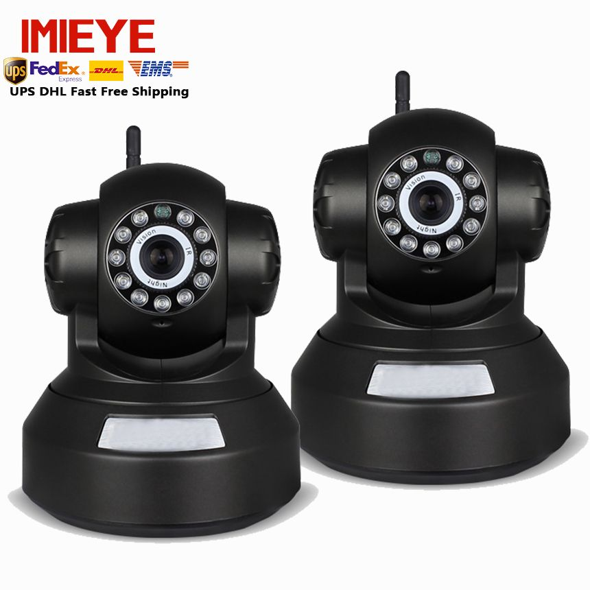 IMIEYE 2pcs/lot 720P IP Wifi Camera Wireless Surveillance Pan Tilt Zoom CCTV Home Security Mini Cam TF Card Record Alarm Video