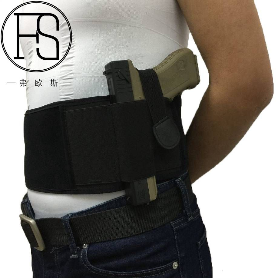New Concealed Carry Belly Band Holster Gun Pistol Holsters Fits all Pistol for Glock 19, 17, 42, 43, P238