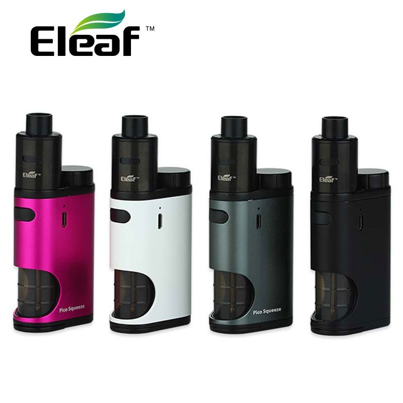 <font><b>Eleaf</b></font> Pico Squeeze With Coral E-cig Kit 50W Pico Squeeze Box Mod & Coral RDA Atomizer Adjustable Airflow Rebuildable & Reuseable