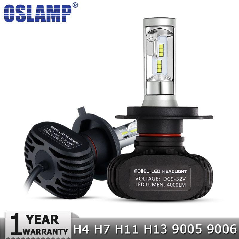 Oslamp H4/H7/H11/H13/9005(HB3)/9006(HB4) LED Car Headlight Single/Hi-Lo Beam CSP Chips Auto Led Headlamp Fog Light Bulbs 6500K