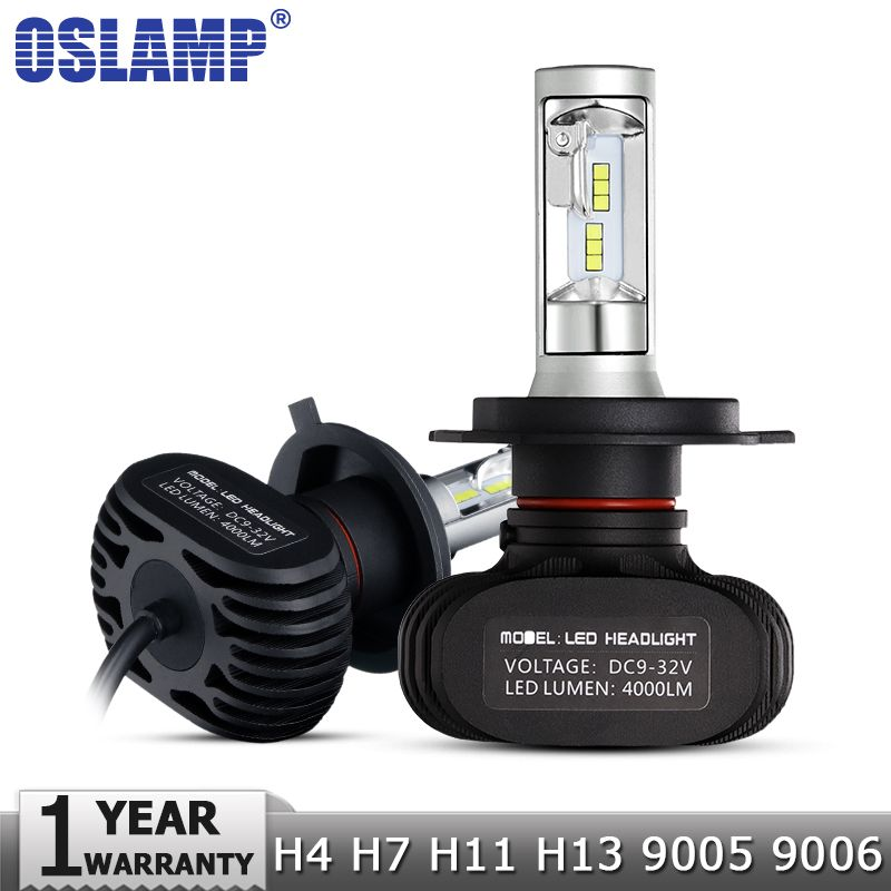 Oslamp H4/H7/H11/H13/9005(HB3)/9006(HB4) LED Car Headlight Single/Hi-Lo Beam CSP Chips Auto Led Headlamp Fog Light Bulbs 6500K