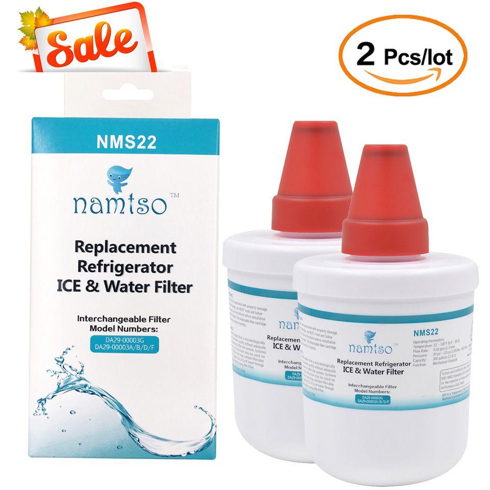 En vente nouveau purificateur d'eau Namtso NMS22 réfrigérateur glace et filtre à eau cartouche de remplacement pour Samsung DA29-00003G 2 Pcs/lot