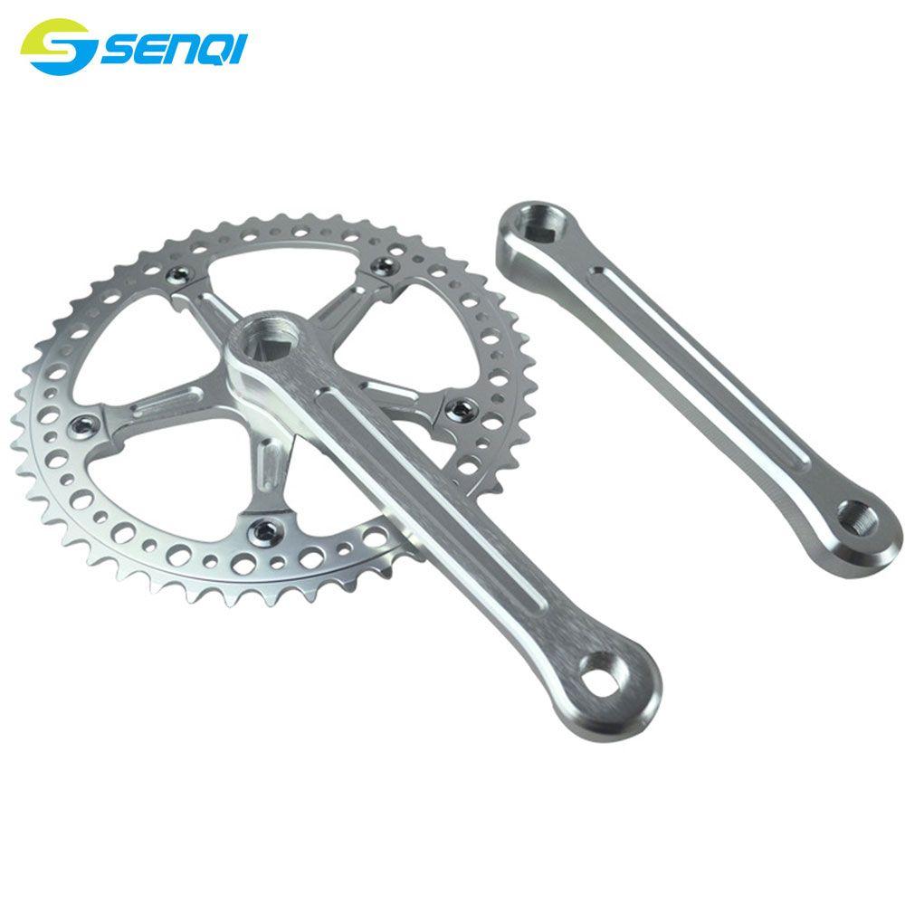 Single Speed Pignon Fixe 48 T CNC Plateau Crank Pignon Alliage D'aluminium Vélo Pédalier CZY008