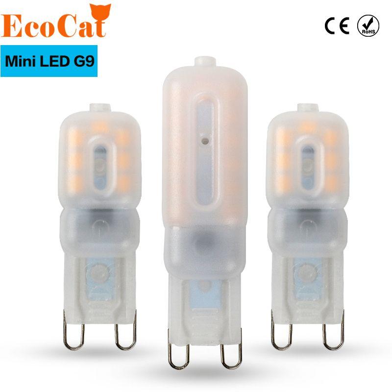 ECO CAT G9 led 220V 14LEDs 22LEDs LED G9 Lamp Led bulb SMD 2835 LED G9 light Replace 20W/40W halogen lamp light