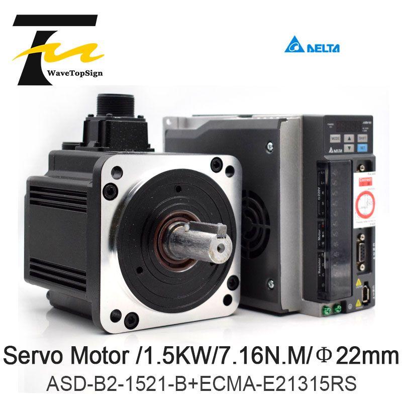 DELTA Servo Motor 1.5KW B2 Serie ASD-B2-1521-B + ECMA-E21315RS + 3 M Draht 7.16N.M 8.3A Verwenden Für Automatisierten Industrie