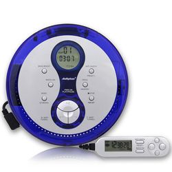 Portable CD Player Walkman With Wire Remote Control Support CD-R/CD-RW Power by AA Battery Built-in Battery Charge System