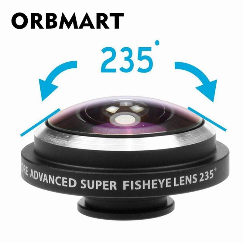 ORBMART Universal Clip 235 Grad Super Fish Eye Kamera Fisheye Für Apple iPhone 6 Plus 5 S 5C 5 4 S Samsung Handy linsen