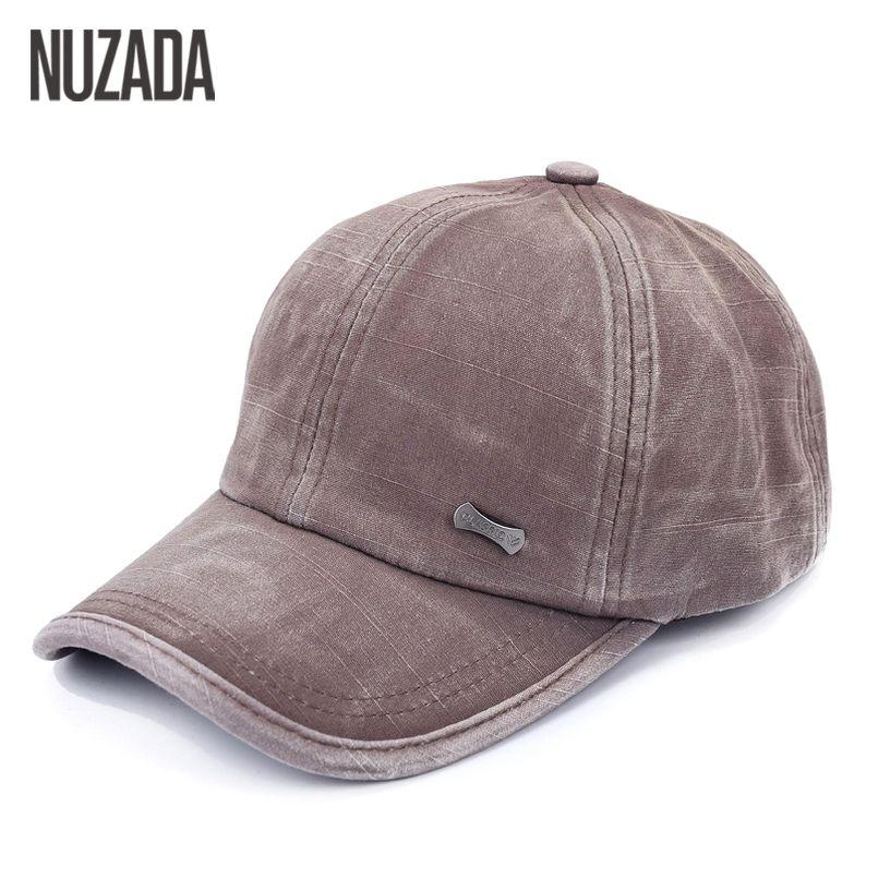 Brands NUZADA Men Women Baseball Cap Snapback Bone Hats Caps Hip Hop Washed Cloth 100% Cotton Casual 2017 Classic Simple
