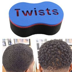 1 pcs Professionnel Magique Cheveux Twist Éponge Sapin Afro Dreadlocks Curl Brosse Bobine Vagues Torsion Brosses Éponge Cheveux Tressage Outil