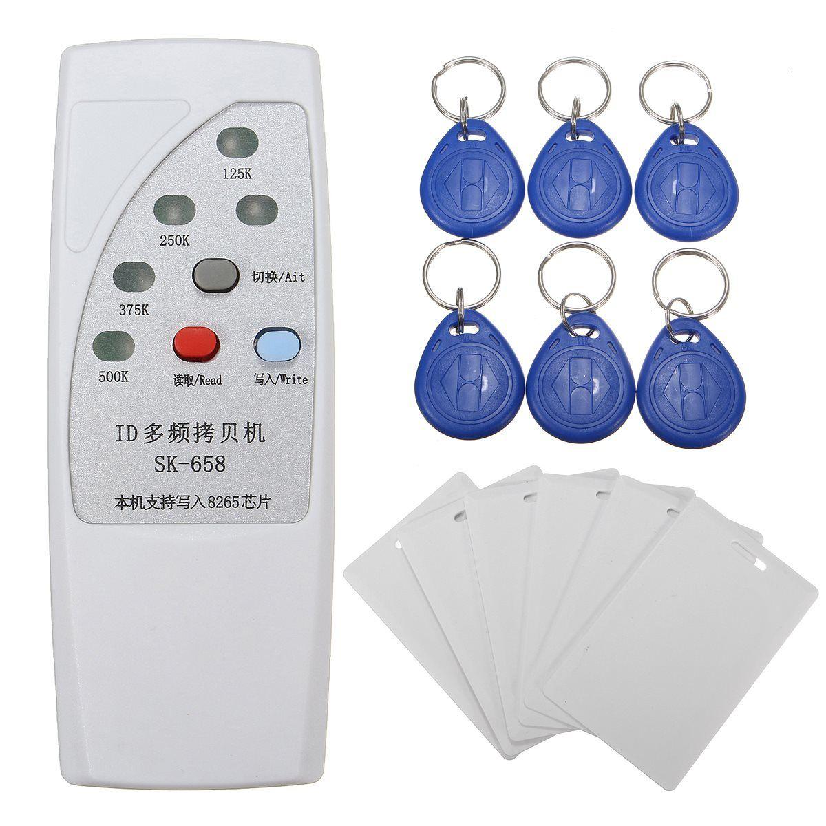 NUEVA Computadora De Mano 125 KHz RFID ID Card Duplicadora Programador Lector Escritor Copiadora Duplicadora + 6 Unids Tarjetas 6 PcsTags Kit