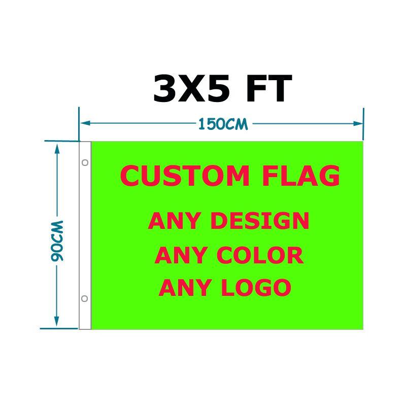Custom flagge 90*150cm ihre design flagge Mit Weiß Hülse Metall Gromets