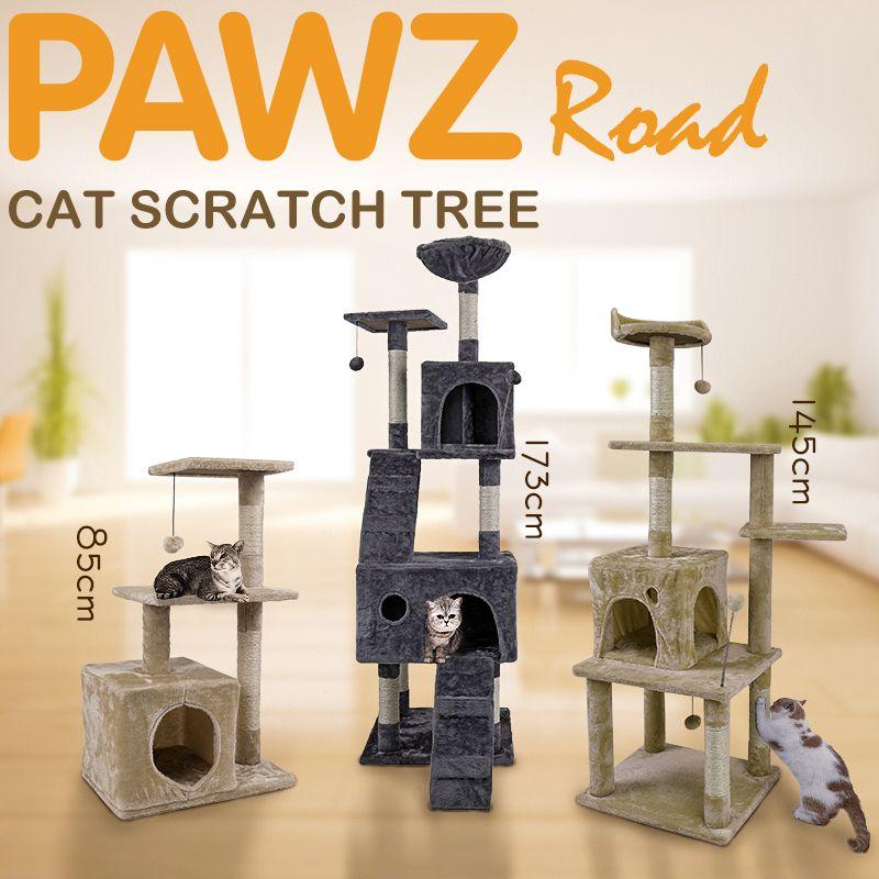 H173CM Katze Baum Haus mit Hängenden Ball Kätzchen Möbel Scratch Massivholz für Katzen Klettergerüst Katze Eigentumswohnungen Inländischen Verschiffen