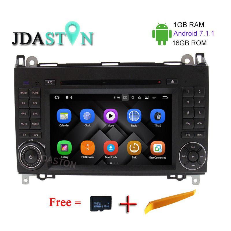 JDASTON 1G+16G Android 7.1 Car CD DVD Player For Mercedes Benz Sprinter B200 B-class W245 B170 W209 W169 GPS Radio Multimedia